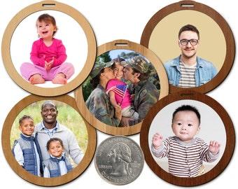 Tiny Photo Frames 2.25in Hardwood 10/Set