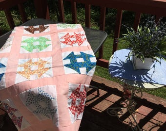 Vintage Churn Dash Quilt Top