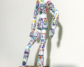 """Hand painted artist mannequin - """"Day of the Dead"""""""
