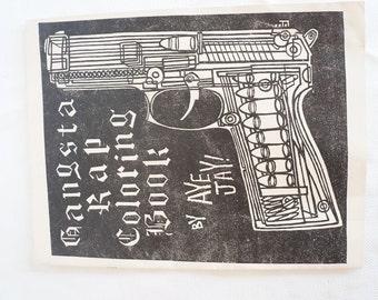 Original Vintage LA Street Pub Gangsta Rap Coloring Book 2Pac Cube