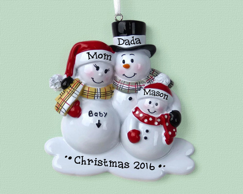 Couples christmas ornaments - Ships Free 3 Expecting Family Personalized Ornament Expecting A Baby Hand Personalized Christmas