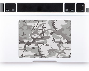 Camo Vinyl Decal Macbook trackpad touchpad decal sticker custom size Apple Macbook Pro Retina Macbook Air Trackpad Sticker # Arctic Camo