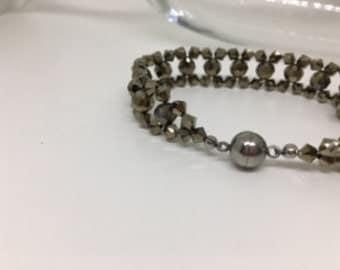 Bronze Swarovski crystal bracelet