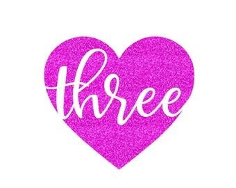 Birthday Heart THREE