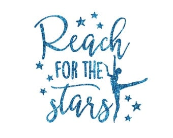 Reach For The Stars Pointe Iron On Decal