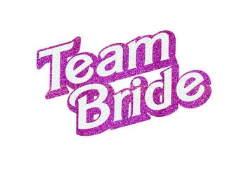 Barbie Team Bride Iron On Decal