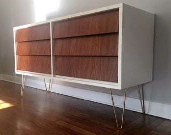 Refinished Mid Century 6-Drawer Dresser by Ward