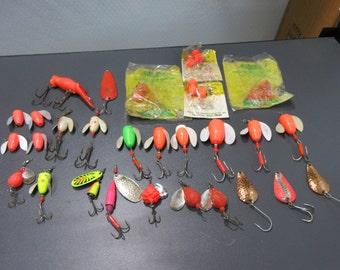 Large Lot Spin-N-Glow Fishing Lures Lure Salmon Trout Fishing