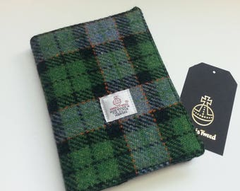 Notebook with Green Harris Tweed Cover