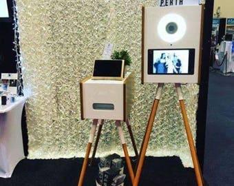 250*250cm White Rose Pattern Backdrop for Wedding Photo Booth Hanging Pocket