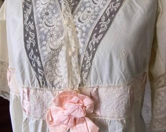 Fine Unused Trousseau Nightdress, Circa 1900