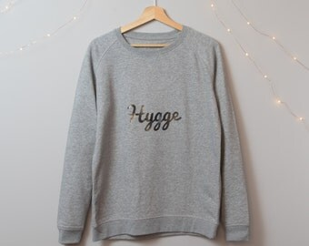 Hygge Jumper - Cosy Organic Cotton Grey Jumper from Hello Wellness - Wellbeing Health & Wellness Clothing