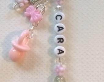 New baby~Baby keepsake~Baby gift~Baby shower~christening~pram charm~baby pink, baby blue, personalised