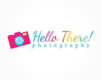 Baby Photography Camera Logo Design, Kids, Multicolor, Rainbow Colors, Branding, Premade Business Logo Design