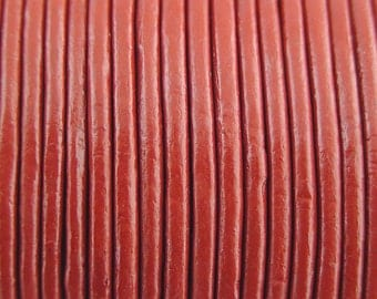 2mm Red Leather Cord 2 Yards