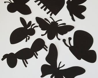 Variety of Bug Die Cut Outs ( Embellishments, Party Decoration, Scrap Booking )