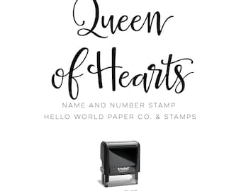 Queen of Hearts Stamp - Caseyville VFW