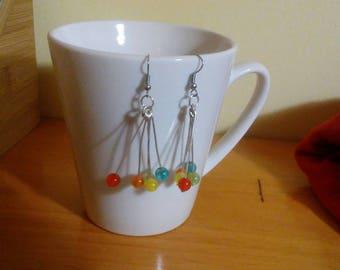 Rainbow Drip-Drop Earrings
