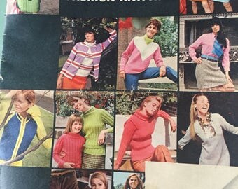 Womans Own Autumn collection knitting patterns 1970's