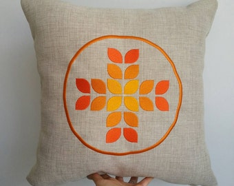 Personalised cushion either heat pressed OR embroidered  (eco friendly 50x50cm insert included)