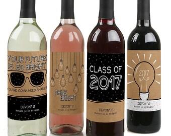 Wine bottle stickers | Etsy