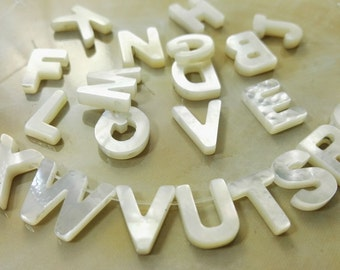 Wholesale Alphabets Letter Beads , Mother of Pearl Alphabet Beads , Mother Of Pearl Letter Beads