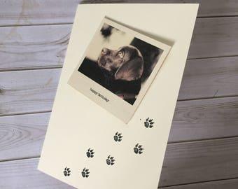 Black labrador, Labrador card, Dog lover card, Polaroid Style Card, Labrador gift,