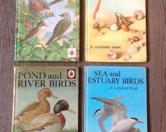 Ladybird Books 1964-1969, Series 536. Set of 4, Birds and Seashore.