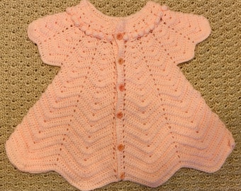 Hand-crocheted, vintage-inspired baby dress