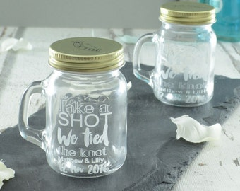 20 Take A Shot Personalised Wedding Jars