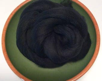 Black Merino Roving 21.5 Microns