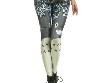 Totoro & Soot Sprite Leggings REDUCED TO CLEAR