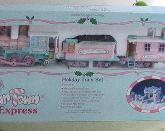 Precious Moments Sugar Town Express Railroad Set Three (3) Piece 1995-1996