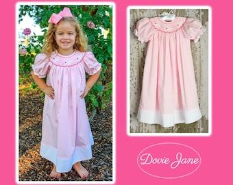 Bunny Smocked Dress, Bunny Dress, Smocked Easter Dress, Girls Smocked Easter, Smocked Bunny Dress, Easter Dress, Toddler Girl Dress, Bunny