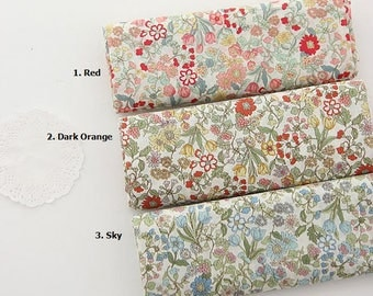 Floral Lightweight Cotton - Asa Cotton by Yard- 3 Colors Selection