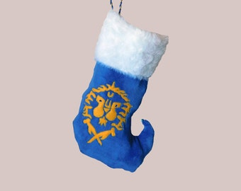 World of Warcraft inspired oh so soft  Alliance Christmas stocking