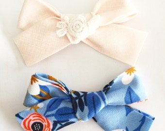 Rifle Paper and Blush bows - sold insividually or as a set