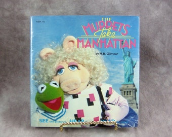 Sealed The Muppets Take Manhattan, Book & Record, 1984, Kermit, Miss Piggy Talking storybook