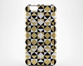 Golden Geometric Hard case 3D case Apple iPhone 4 5 6 7 Samsung Galaxy S6 S7  #132