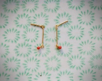 Earrings Zen Coral