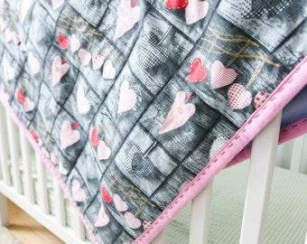 Blanket, stitched baby blanket, baby blanket, nursery bedding, baby shower gift, organic baby blanket, kids blanket, rustic baby bedding