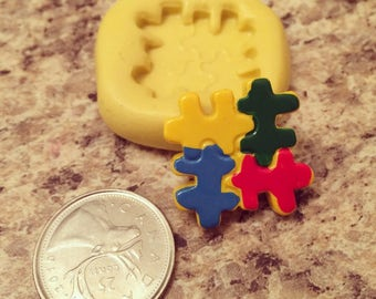 Autism Awareness Puzzle Piece Silcione Mold