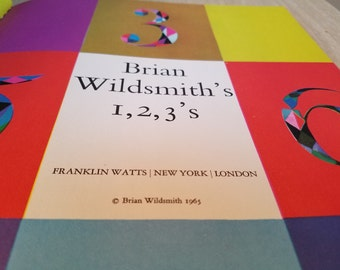 """Vintage Counting Book for Children """"Brian Wildsmith' s1, 2, 3's"""" Published in 1965"""