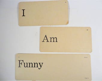 Retro I Am Funny Flash Cards - Vintage Vocabulary Word Flash Cards
