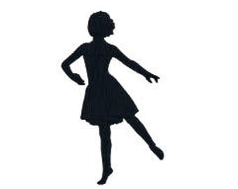 "BUY 2 GET 1 FREE - Six Sizes!  Ballet Girl 210 Ballerina Silhouette Machine Embroidery Design, 2"", 3"", 4"", 5"", 6"", 7"" I Love To Dance!"