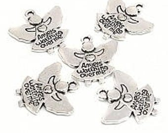 Five Angels Watching Over Me Charms