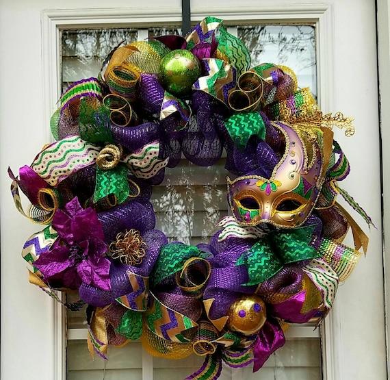 Sale Mardi Gras Wreath Mardi Gras Decoration Wreath For