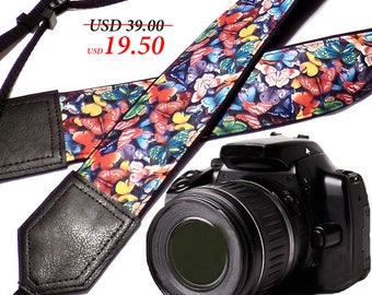 InTePro Butterfly camera strap. DSLR Camera Strap. Camera accessories.