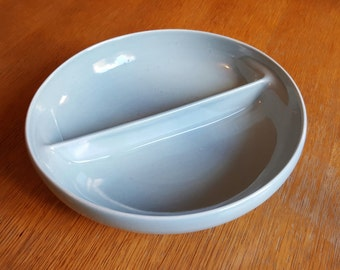 Ice Blue Russel Wright Iroquois Split Serving Bowl