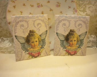 Shabby Chic Angel Tea Bag Envelopes (6)